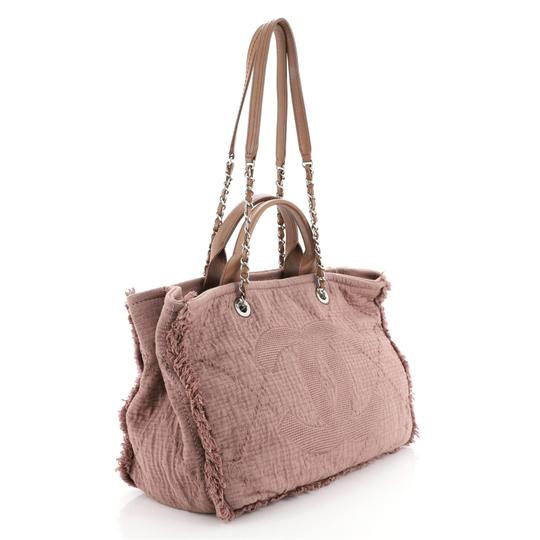 Chanel Canvas Tote in Pink Image 1