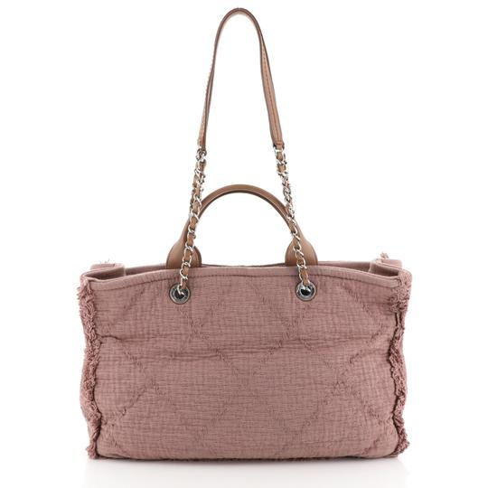 Chanel Canvas Tote in Pink Image 2