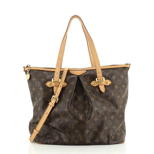 Louis Vuitton Palermo Canvas Tote in Brown Image 0