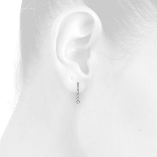 Jewelry For Less 14K White Gold Graduating Diamond Studs Miracle Illusion Earring 1/2CT Image 4
