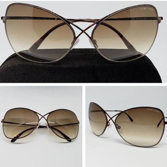 Tom Ford Gradient Lens TF0250/S 48F Women Butterfly Sunglasses Image 1