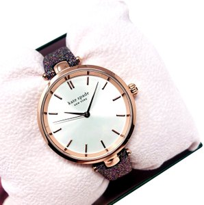 Kate Spade NEW Holland Three-Hand Multicolor Glitter Leather Watch KSW1580