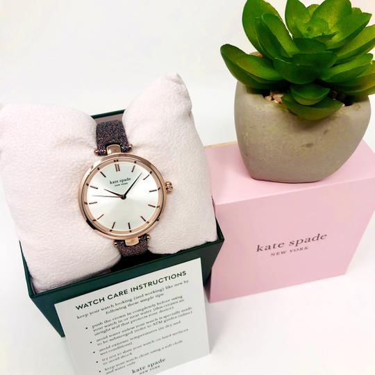 Kate Spade NEW Holland Three-Hand Multicolor Glitter Leather Watch KSW1580 Image 4