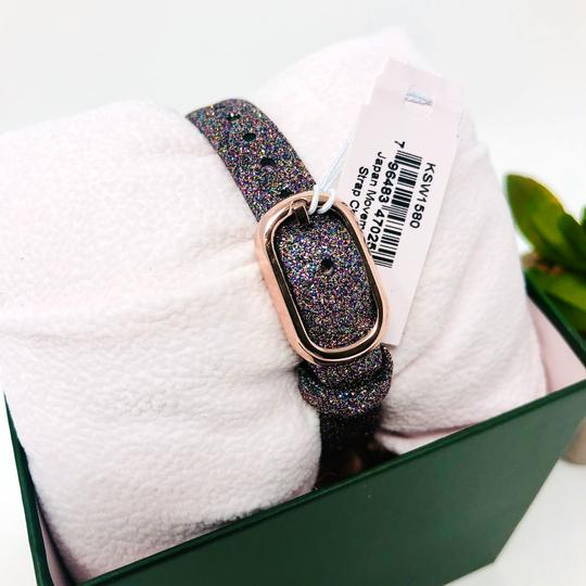 Kate Spade NEW Holland Three-Hand Multicolor Glitter Leather Watch KSW1580 Image 5