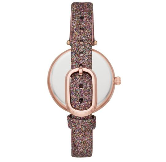 Kate Spade NEW Holland Three-Hand Multicolor Glitter Leather Watch KSW1580 Image 6