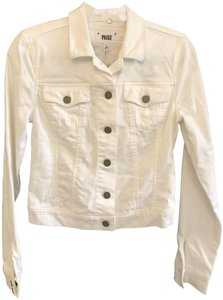 Paige Classic Jean Style#2165687 White Womens Jean Jacket