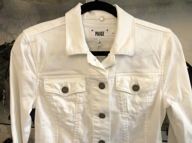 Paige Classic Jean Style#2165687 White Womens Jean Jacket Image 3