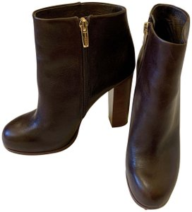 Vince Camuto Faux Leather Ankle Brown Boots