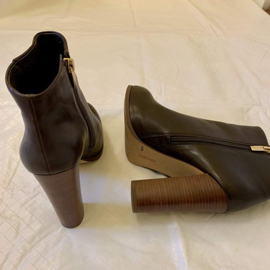 Vince Camuto Faux Leather Ankle Brown Boots Image 1