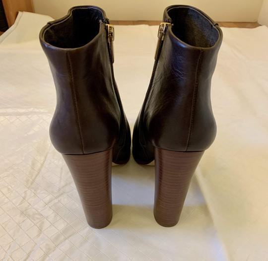 Vince Camuto Faux Leather Ankle Brown Boots Image 2
