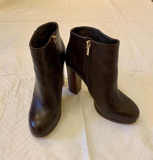 Vince Camuto Faux Leather Ankle Brown Boots Image 4