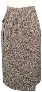 Valentino Boucle Vintae Miss V Pencil Pocket Skirt Black & White