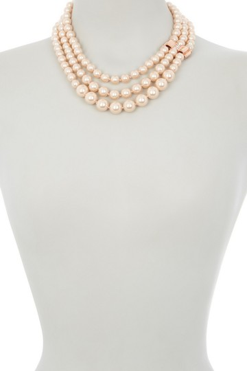 Kate Spade Kate Spade Triple Strand Faux Pearl Collar Necklace Image 1