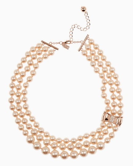 Kate Spade Kate Spade Triple Strand Faux Pearl Collar Necklace Image 2