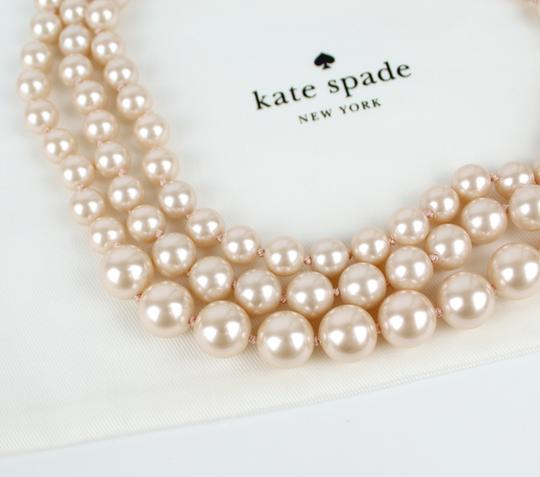 Kate Spade Kate Spade Triple Strand Faux Pearl Collar Necklace Image 4