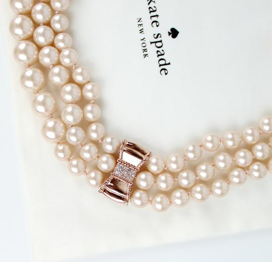 Kate Spade Kate Spade Triple Strand Faux Pearl Collar Necklace Image 5