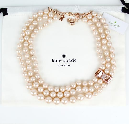Kate Spade Kate Spade Triple Strand Faux Pearl Collar Necklace Image 6