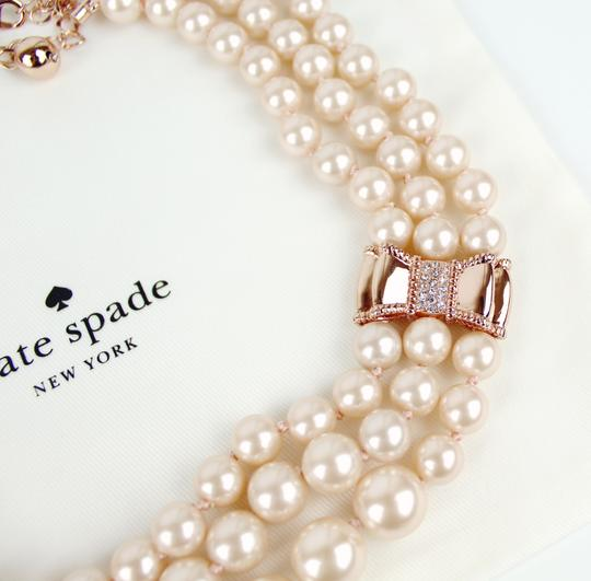 Kate Spade Kate Spade Triple Strand Faux Pearl Collar Necklace Image 7