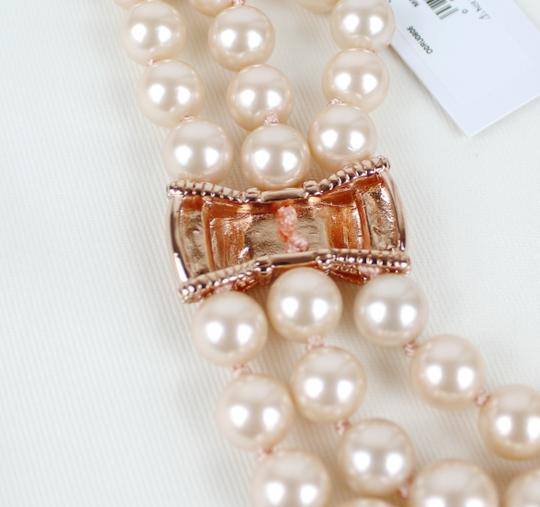 Kate Spade Kate Spade Triple Strand Faux Pearl Collar Necklace Image 8