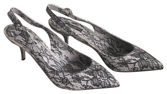 Preload https://img-static.tradesy.com/item/26606725/dolce-and-gabbana-blackcream-dolce-and-gabanna-and-ivory-lace-printed-leather-kitten-heel-nwot-pumps-0-1-540-540.jpg