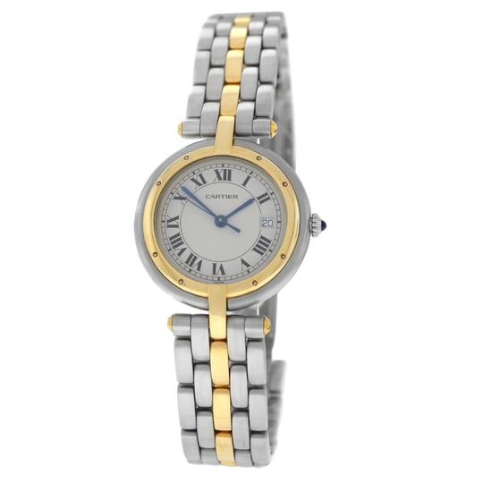 Preload https://img-static.tradesy.com/item/26606745/cartier-yellow-gold-silver-ladies-panthere-vendome-one-row-steel-quartz-30mm-watch-0-0-540-540.jpg