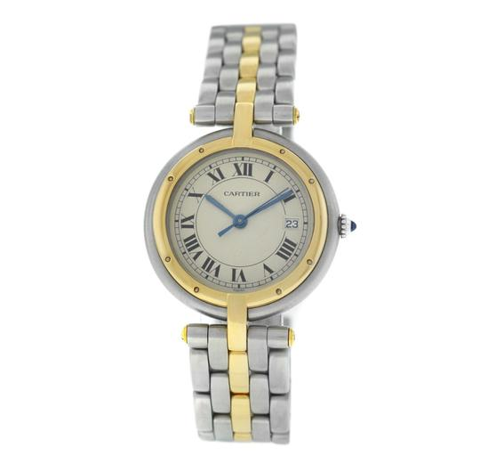 Preload https://img-static.tradesy.com/item/26606756/cartier-yellow-gold-silver-ladies-panthere-vendome-183964-one-row-steel-quartz-30mm-watch-0-0-540-540.jpg