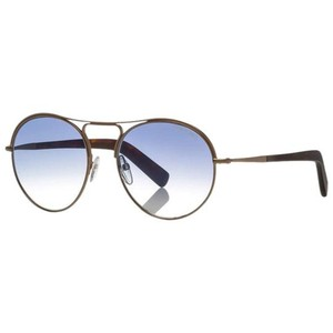 Tom Ford Blue Gradient Lens TF449 37W Unisex Round Style Sunglasses