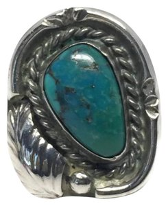Native American Vintage Native American Turquoise Sterling Silver Ring