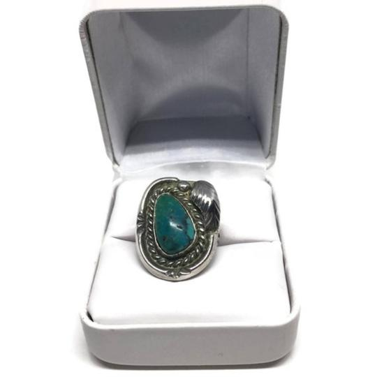 Native American Vintage Native American Turquoise Sterling Silver Ring Image 1