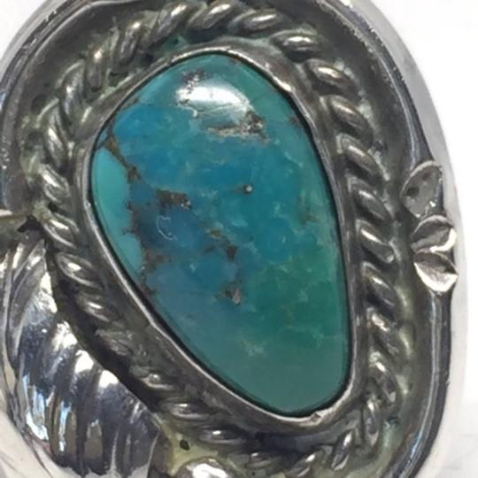 Native American Vintage Native American Turquoise Sterling Silver Ring Image 6
