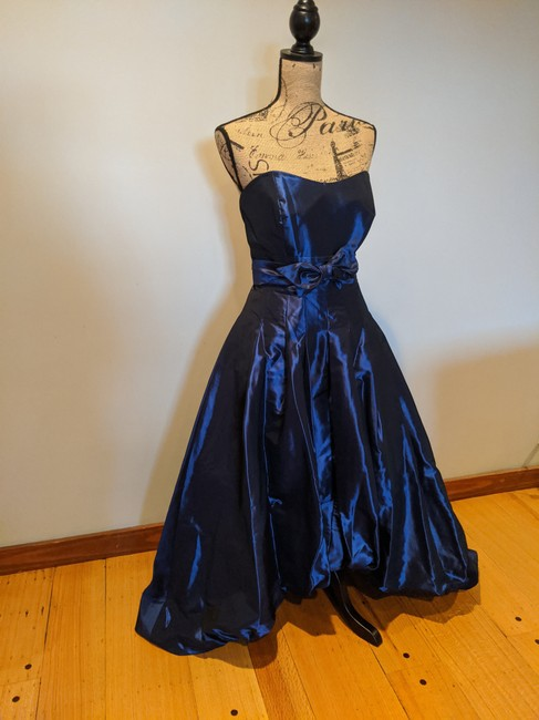 Alfred Angelo Ball Gown High Low Strapless Taffeta Dress Image 2