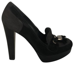 Stuart Weitzman Black and Grey Platforms