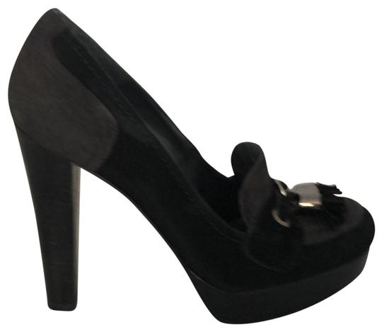 Stuart Weitzman Black and Grey Platforms Image 0