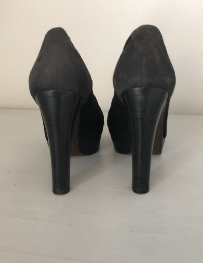 Stuart Weitzman Black and Grey Platforms Image 4