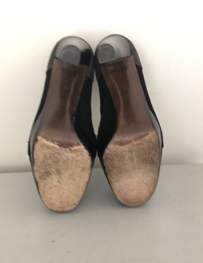 Stuart Weitzman Black and Grey Platforms Image 7