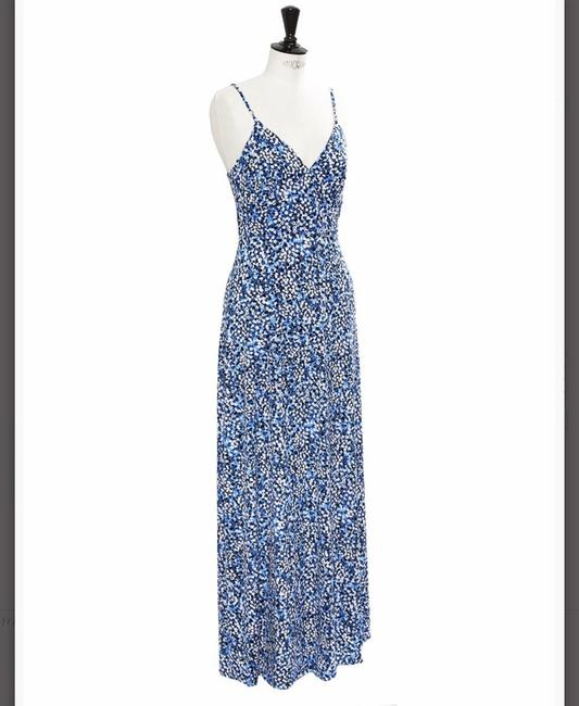 Blue, White Maxi Dress by Michael Kors Image 5