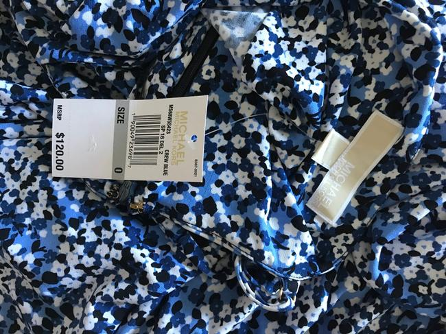 Blue, White Maxi Dress by Michael Kors Image 7
