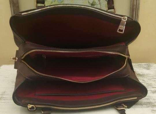 Coach Red Leather Brooklyn Satchel in Purple Image 10