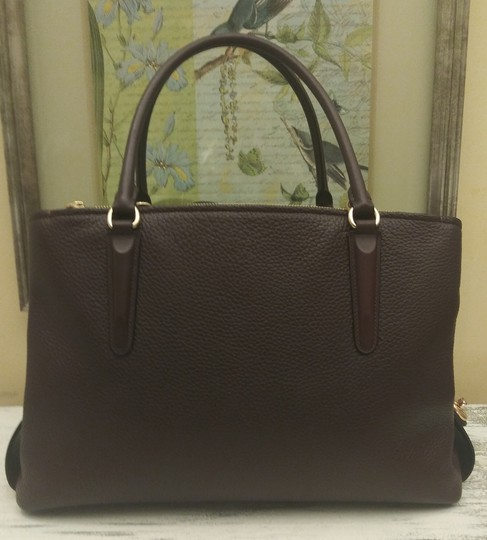 Coach Red Leather Brooklyn Satchel in Purple Image 2