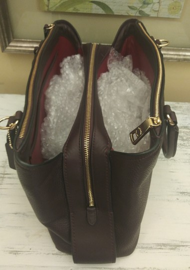 Coach Red Leather Brooklyn Satchel in Purple Image 5