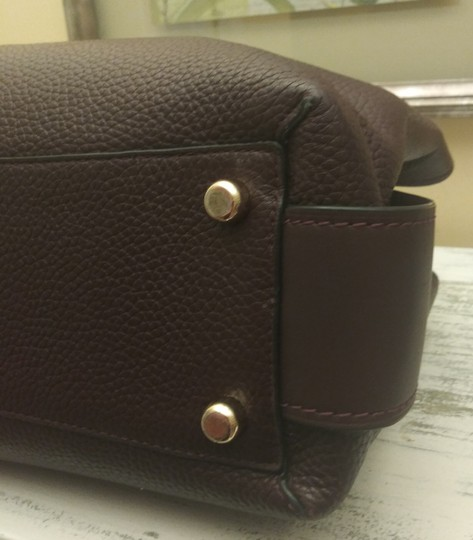 Coach Red Leather Brooklyn Satchel in Purple Image 8