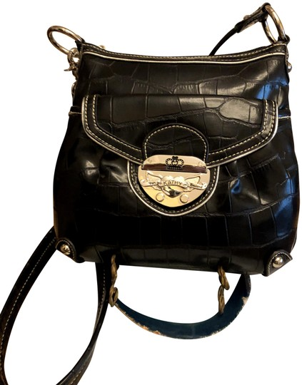 Preload https://img-static.tradesy.com/item/26606878/kathy-van-zeeland-black-faux-leather-cross-body-bag-0-1-540-540.jpg