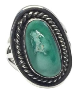 Other Vintage Native American Navajo Sterling Silver Turquoise Ring