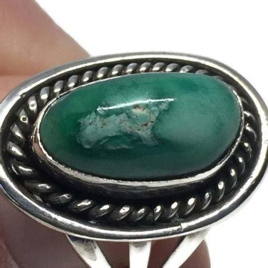 Other Vintage Native American Navajo Sterling Silver Turquoise Ring Image 3