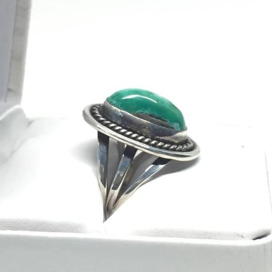 Other Vintage Native American Navajo Sterling Silver Turquoise Ring Image 5