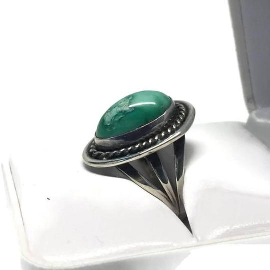 Other Vintage Native American Navajo Sterling Silver Turquoise Ring Image 7