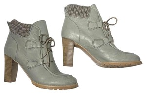 See by Chloé Chunky Leather Lace Model Green Boots