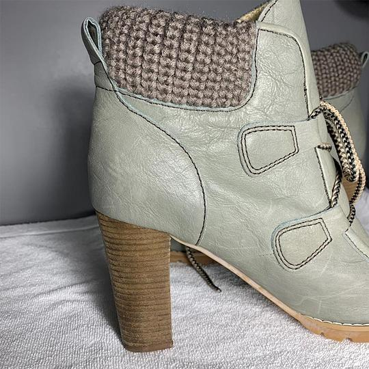 See by Chloé Chunky Leather Lace Model Green Boots Image 1