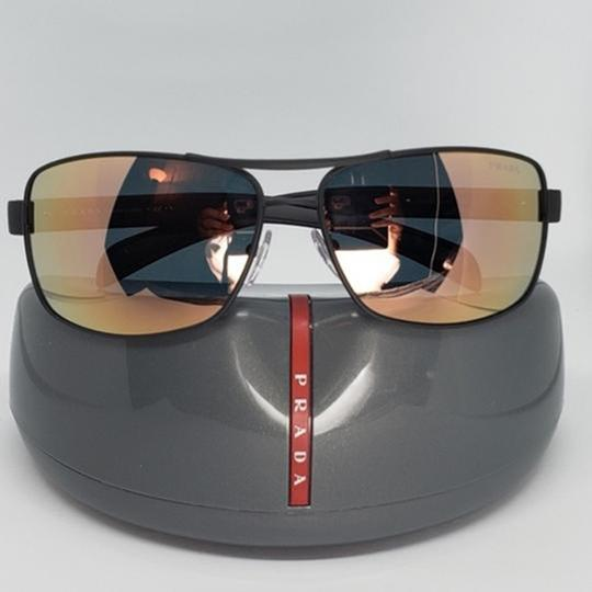 Prada Green Mirrored Lens Unisex Sports Sunglasses Image 1
