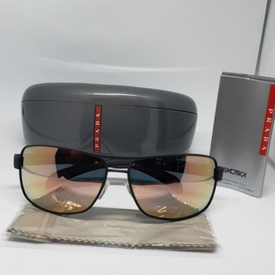 Prada Green Mirrored Lens Unisex Sports Sunglasses Image 2